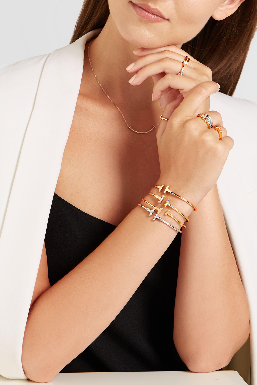 Rose Gold T Wire Narrow 18 Karat Rose Gold Bracelet Tiffany Co Net A Porter