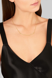 "T Smile 16-18"" 18-karat gold necklace"