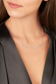 "T Smile 16-18"" 18-karat white gold diamond necklace"
