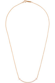 "T Smile 16"" 18-karat rose gold diamond necklace"