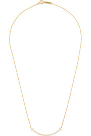"T Smile 16"" 18-karat gold diamond necklace"