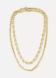 "T Chain 18 & 20"" 18-karat gold necklace"