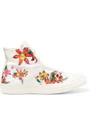 Converse + PatBo Chuck Taylor embroidered canvas high-top sneakers