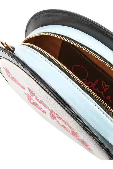 Sophia Webster Speech Bubble Clutch Embroidered In Leather