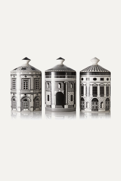 Fornasetti - Ordine Architettonico Set Of Three Candles, 3 X 300g