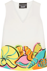 Boutique Moschino Printed crepe de chine top