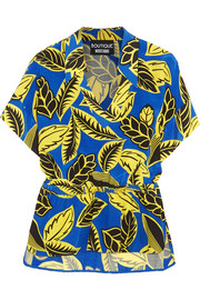 Boutique Moschino Printed crepe de chine blouse