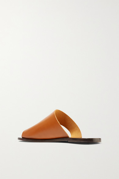 ATP Atelier Rosa Pantoletten aus Leder mit Cut-outs