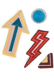 Funk & Flash set of four embroidered cotton patches