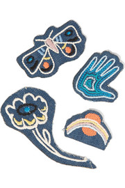 M.i.h Jeans Acid Trip set of four embroidered cotton patches