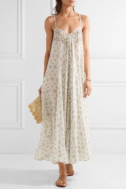Java printed cotton-gauze maxi dress