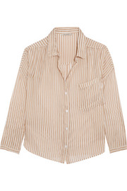Comma metallic striped chiffon shirt