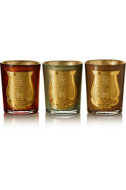 Gabriel, Gaspard and Bethlehem set of three scented candles, 3 x 100g