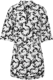 Iconic Prints oversized cotton and silk-blend tunic