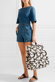 Iconic Prints cotton-canvas tote