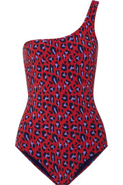 Stella McCartney Animal one-shoulder leopard-print swimsuit