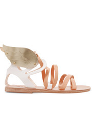 Nephele metallic-trimmed leather wing sandals