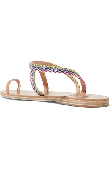 Ancient Greek Sandals Eleftheria Raffia And Leather