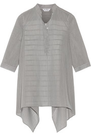 Aderire oversized striped cotton and silk-blend shirt