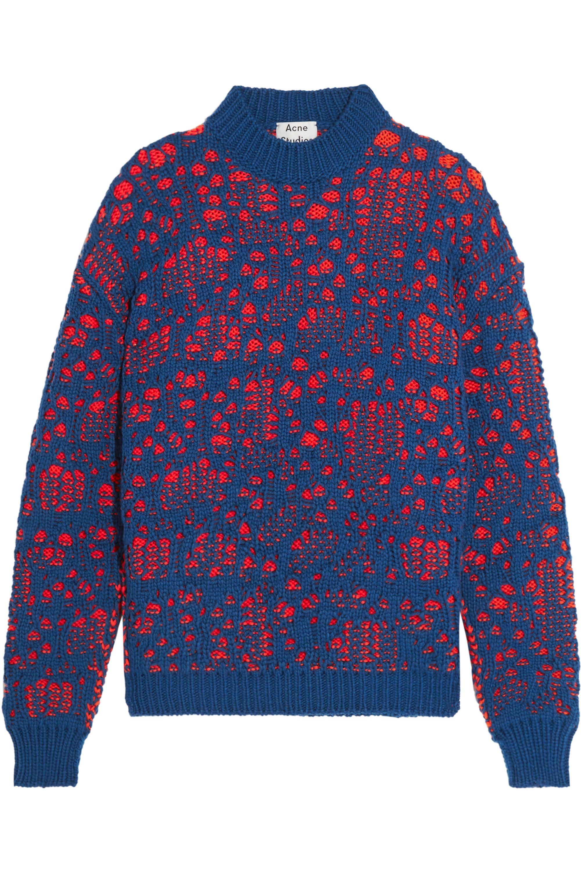 Acne Studios Open-knit wool-blend sweater