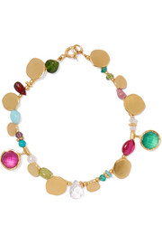Gold-plated multi-stone bracelet