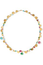 Katerina Makriyianni Gold-plated multi-stone necklace