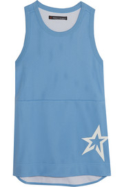 Jersey-trimmed mesh tank