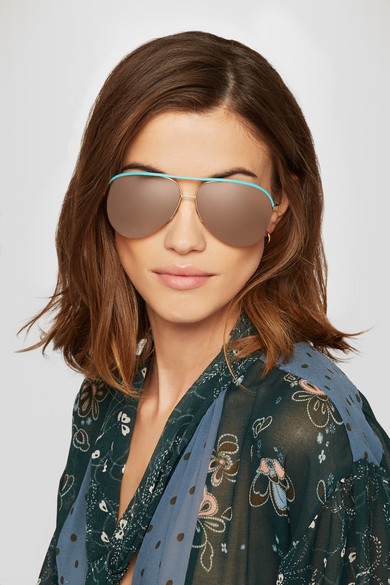 Victoria Beckham   Lunettes de soleil aviateur effet miroir en métal ... 451d87cf1719