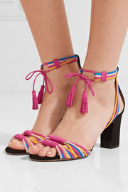 Jamie knotted suede sandals