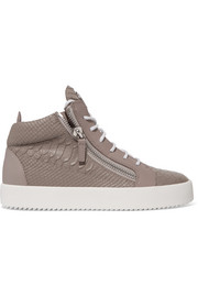 Giuseppe Zanotti Kriss croc-effect leather high-top sneakers