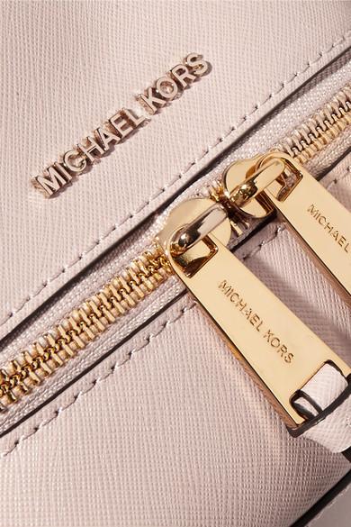 Michael michael kors mini clutch aus strukturiertem leder