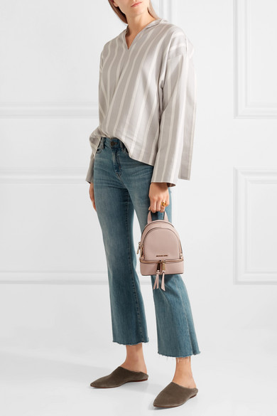 befd8abed548 MICHAEL Michael Kors | Rhea mini textured-leather backpack | NET-A ...