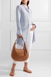 MICHAEL Michael Kors Lauryn large whipstitched textured-leather shoulder bag