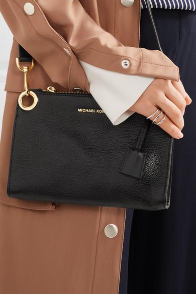 michael michael kors bond textured leather shoulder bag net a porter com. Black Bedroom Furniture Sets. Home Design Ideas
