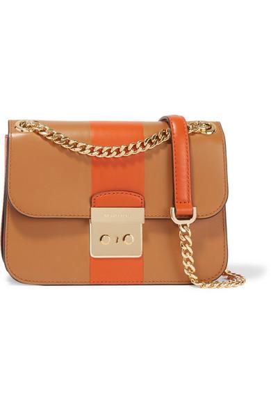 57f44b9a94b MICHAEL Michael Kors. Sloan Editor medium two-tone leather shoulder bag