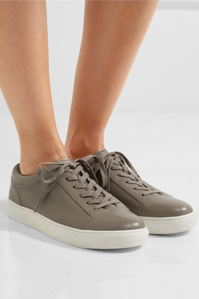 35701b726216 Vince. Afton textured-leather sneakers
