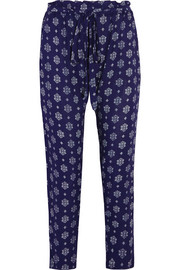 Buena Vista Hudson printed voile tapered pants