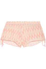 Eberjey Morgan printed voile shorts