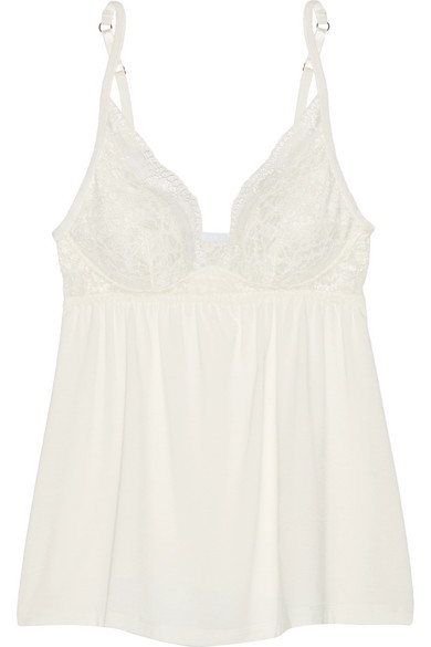 7e7a3ece1 Eberjey. Noor lace-trimmed stretch-modal jersey camisole