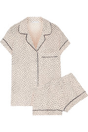 Sketchy Spots printed stretch-modal jersey pajama set