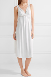 Eberjey Kiss The Bride lace-trimmed stretch-modal jersey nightdress