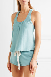Eberjey Heather racer-back stretch-jersey pajama top