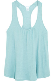 Heather racer-back stretch-jersey pajama top