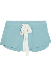Heather stretch-jersey shorts