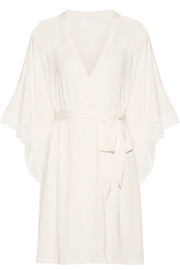 Eberjey Marry Me lace-trimmed stretch-modal jersey robe