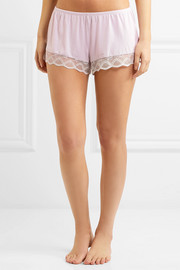 Eberjey Georgina lace-trimmed stretch-modal jersey pajama shorts