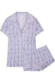 Timba printed stretch-modal jersey pajama set