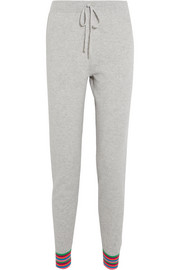 Chinti and Parker Stripe Cuff cashmere track pants