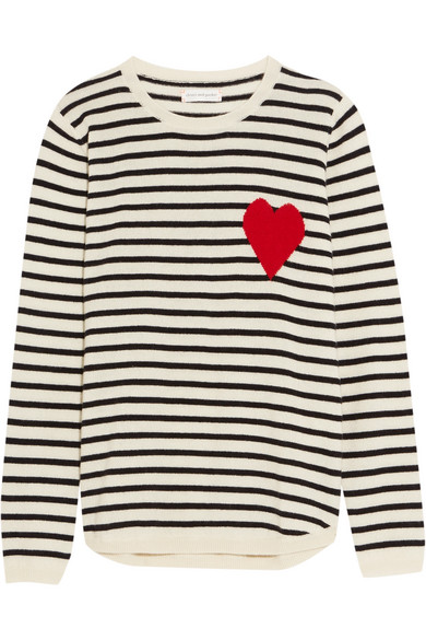 Chinti and Parker - Intarsia Striped Cashmere Sweater - Cream