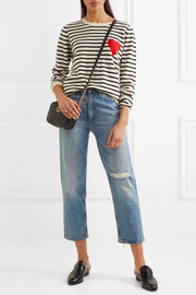Chinti and Parker Intarsia striped cashmere sweater